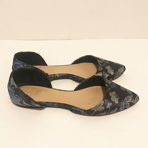 GAP Dark Blue Floral Pointed Toe Flats
